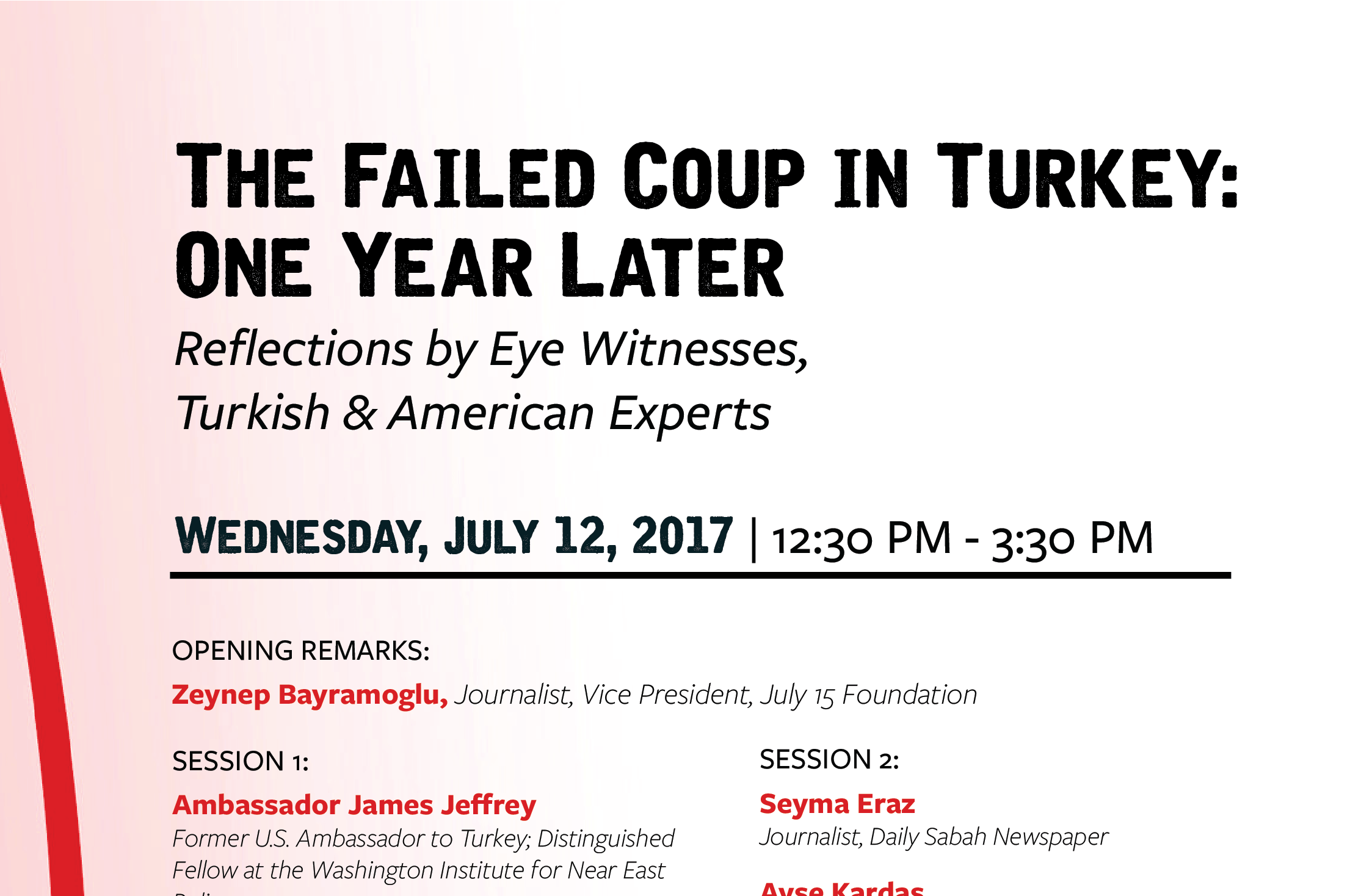Event: One Year Later: The Failed Coup in Turkey